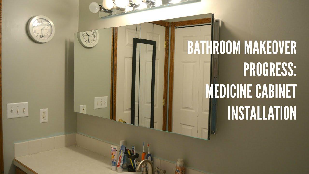Bathroom Update: Medicine Cabinet Installation