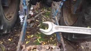 ЛТЗ.Т-40АМ. Регулировка, настройка навески трактора, перед пахатой.
