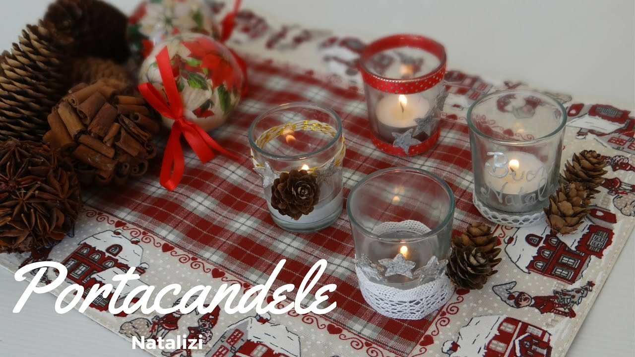 Portacandele natalizio christmas candle diy youtube for Youtube lavoretti di natale