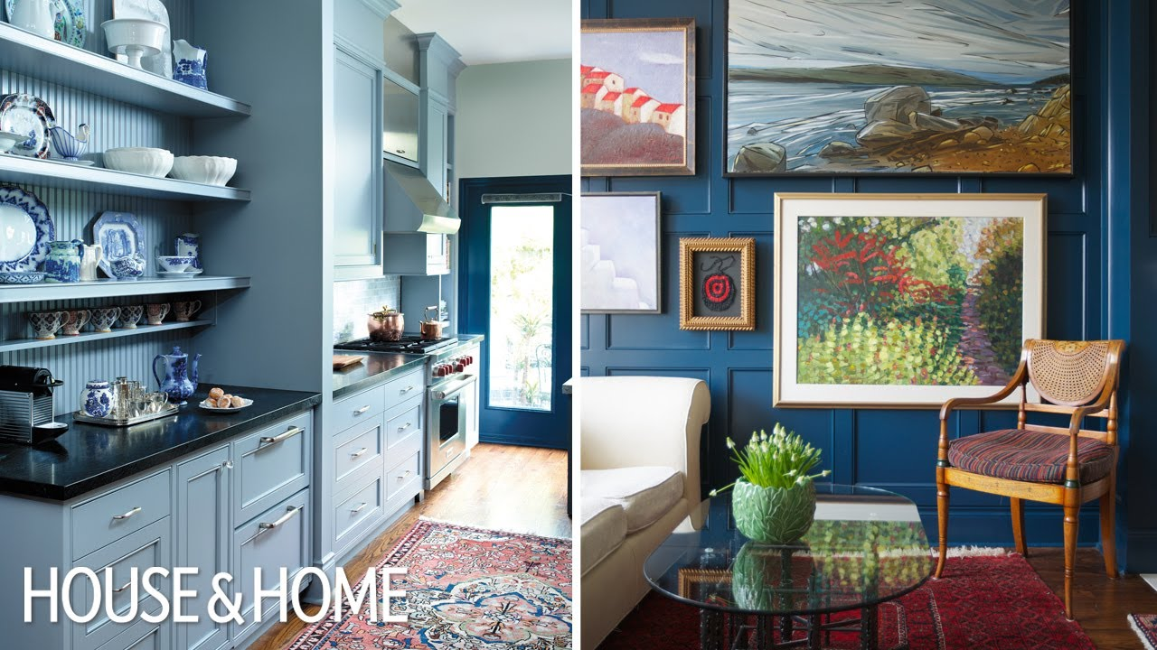 Interior Design Before After Colourful Art Filled