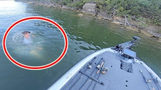 Big Bass Wrapped Up in Deep Water! Underwater Recovery