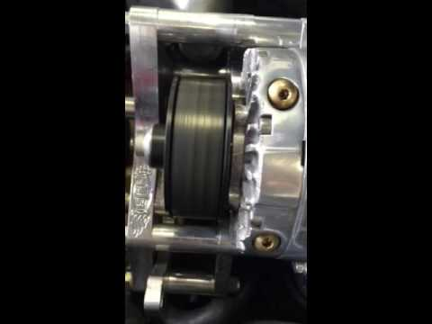 Supercharger pulley moving