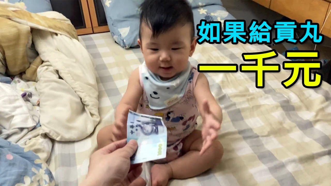 如果給貢丸一千元…[小高奶爸](11M21D)