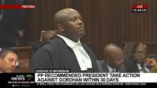 Gordhan vs Mkhwebane | Gordhan challenges 'rogue unit' report Part 2