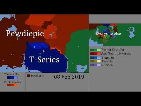 Pewdiepie vs T-Series War :  Civil War : Every Day