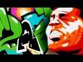 zark graffiti - tribute to james brown - wallpiece and portrait