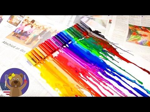 Crayon melting art tutorial - diy wall decor ideas - how to melt ...
