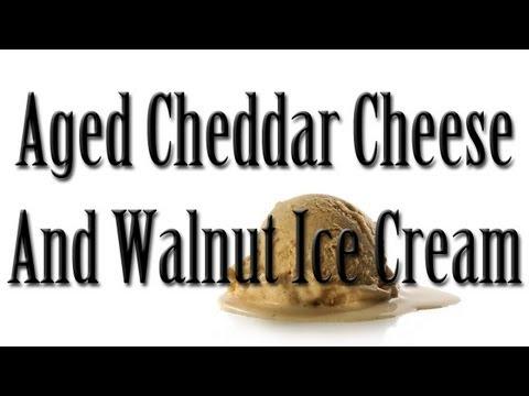 Aged Cheddar & Walnut Ice Cream! ISCC. E02