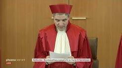 Urteilsverkündung des Bundesverfassungsgerichts zu Hartz-IV-Sanktionen