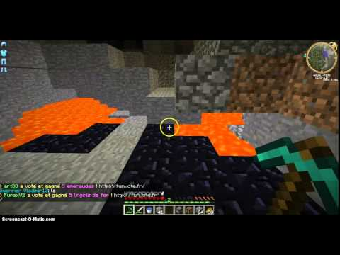 Ma premiere video sur minecraft je mine