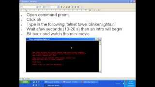 how to watch mini starwars movie on command prompt cmd