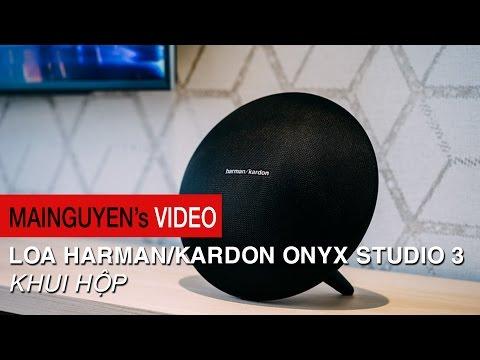 Khui hộp Harman/Kardon Onyx Studio 3 - Cải tiến thiết kế, kết nối 2 loa, pin 5 tiếng, giá tốt hơn