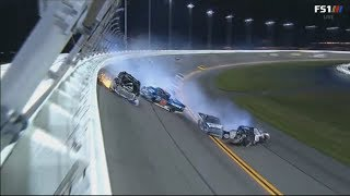 NASCAR Camping World Truck Series 2018. Daytona International Speedway. Multi-Truck Crash