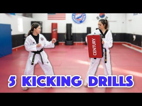 5 Kicking Drills Using A Body Shield | Martial Arts, Karate, Taekwondo