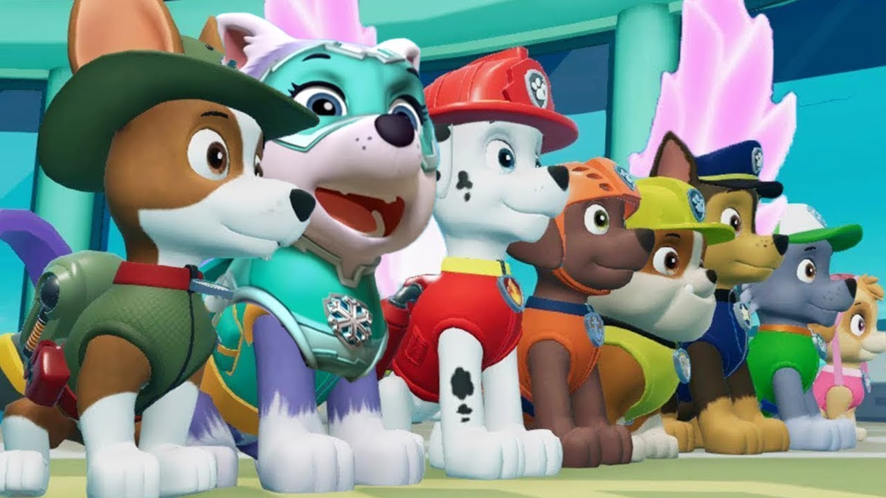 PAW Patrol On A Roll - Mighty Pups Super Ultimate Rescue Team Ryder,  Chase,Skye - Fun Pet Kids Games