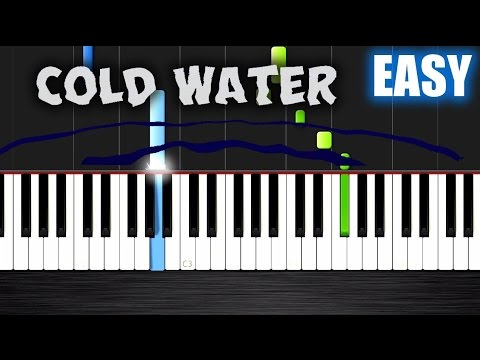 Major Lazer - Cold Water (feat. Justin Bieber & MØ) - EASY Piano Tutorial by PlutaX
