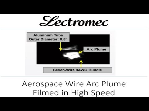 Aircraft Wire Arc Plume Filmed in High Speed