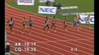 Michael Johnson gets beaten in the Australian Championships 100m - 1994