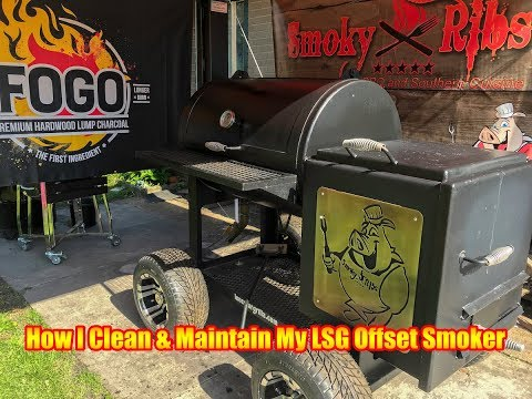 HOW I CLEAN & MAINTAIN MY LONESTAR GRILLZ OFFSET SMOKER