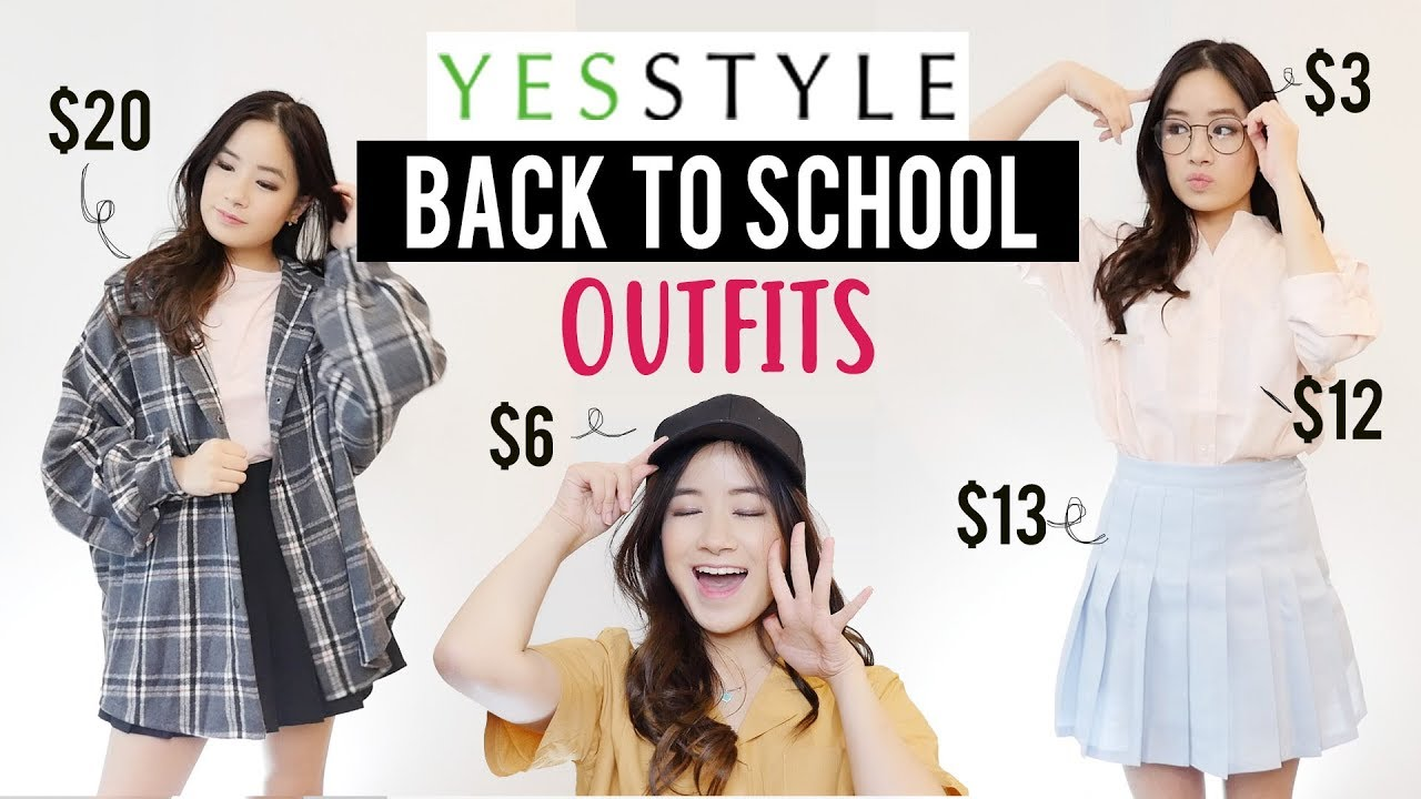 Try On Haul: CHEAP CLOTHING ON YESSTYLE! | Back to School