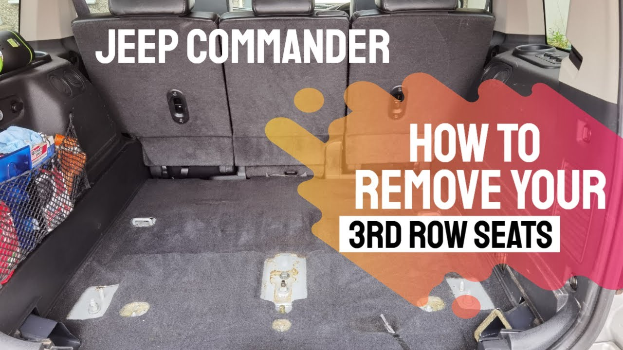 How To Remove Your Third 3rd Row Seats on Jeep Commander