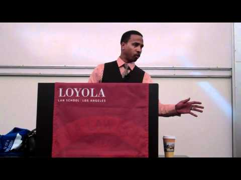 Obie Anthony speaks at Loyola Law School, Los Angeles