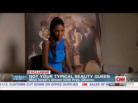 First Black Miss Israel Dines With Obama