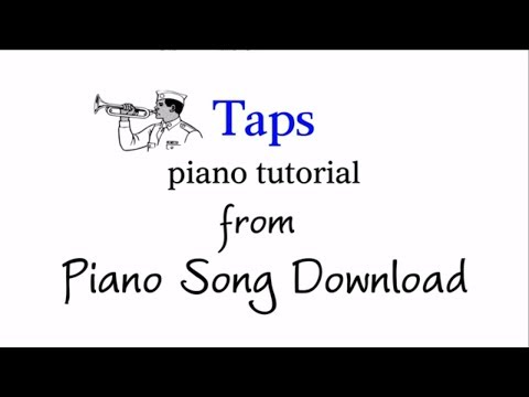 Easy Piano Tutorial: Taps, Day is Done, with free PDF sheet music