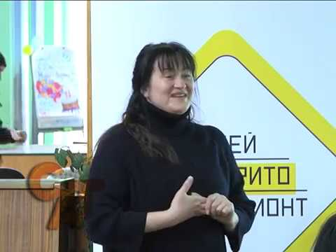 Ольга Герасимюк зі своїм проектом у Словянську
