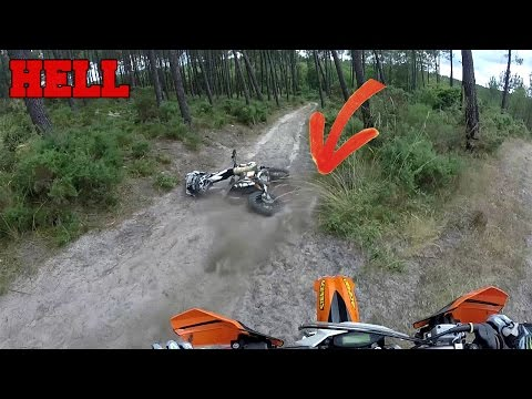 L'ENFER DES LANDES :  Enduro hillclimb | crash & fail