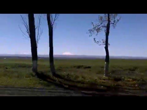 mount elbrus, on way from mineralnye vody to nalchik