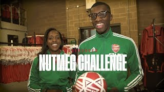 🥜 NUTMEG CHALLENGE | Eddie Nketiah & Danielle Carter go undercover in The Armoury