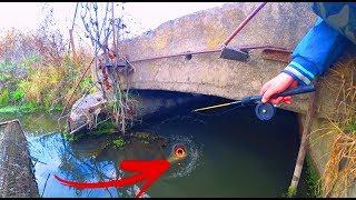 В этой ТРУБЕ полно рыбы Необычная рыбалка
