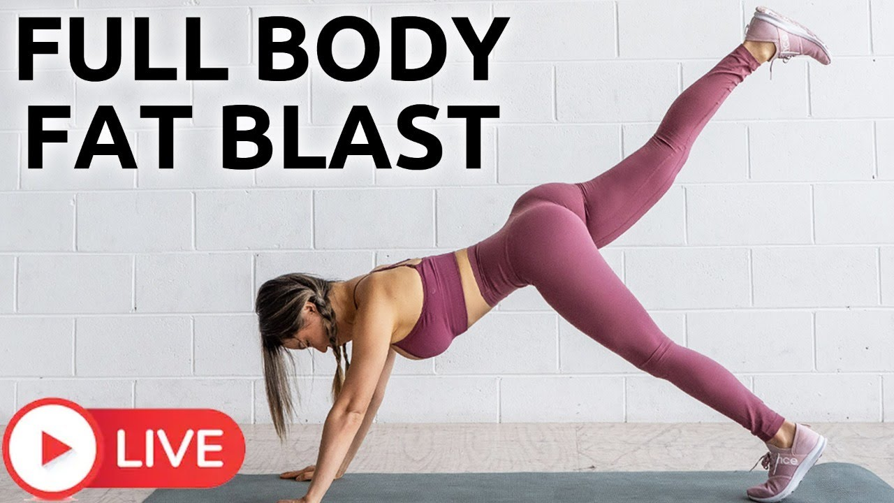 Full Body Fat Blast Workout | Home workout with me LIVE!