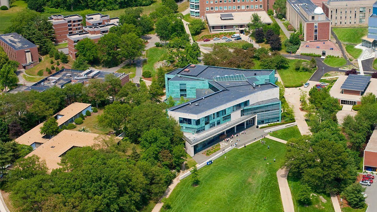 see the brandeis university campus by air youtube