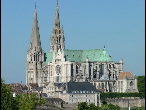 Chartres Cathedral, and the old town.  UNESCO
