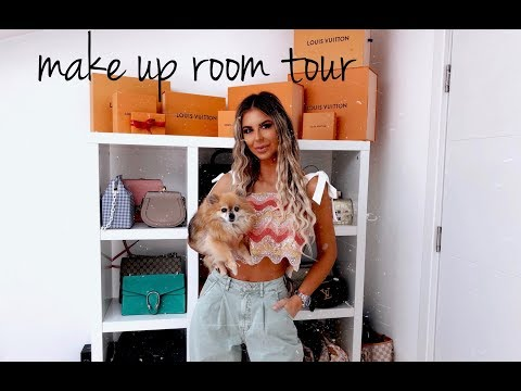 my make up room tour + collection
