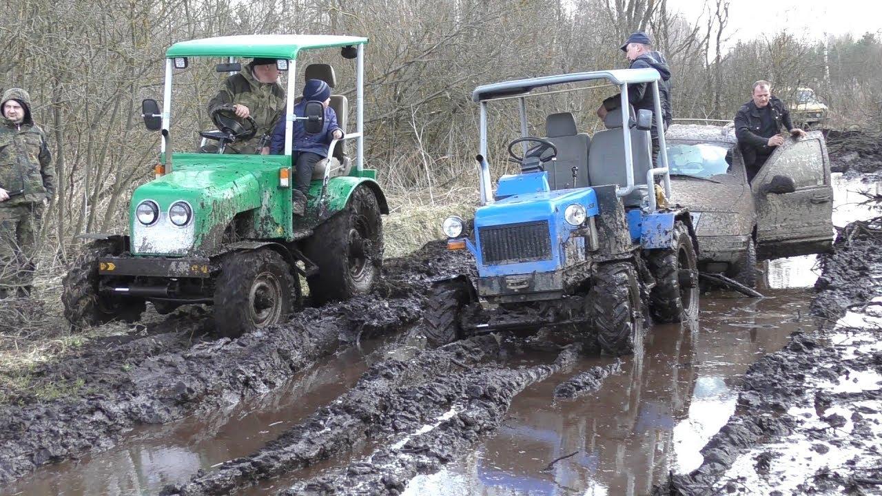Самодельные трактора 4x4 против внедорожников!!! Такого оффроуда вы еще не видели!!!