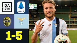 Dreifacher Immobile! Lazio schießt Verona ab: Hellas Verona - Lazio Rom 1:5 | Serie A | DAZN
