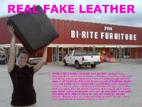 Real Fake Leather Bi Rite Furniture Wmv Youtube