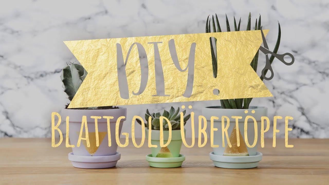 Diy übertöpfe Mit Blattgold In 3 Einfachen Schritten Westwing Diy Tipps