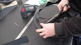 Изготовление выкройки на руль авто(Раньше я работал только с натуральной авто кожей,но всегда,всегда искал материал и технологию что бы облегч..., 2013-02-12T07:27:35.000Z)