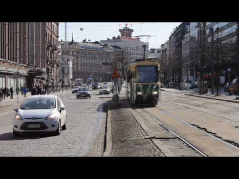 Graphics 2018 | Traffic In The Center Of Helsinki (Stock Footage)