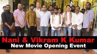 Nani and vikram k kumar new movie opening event