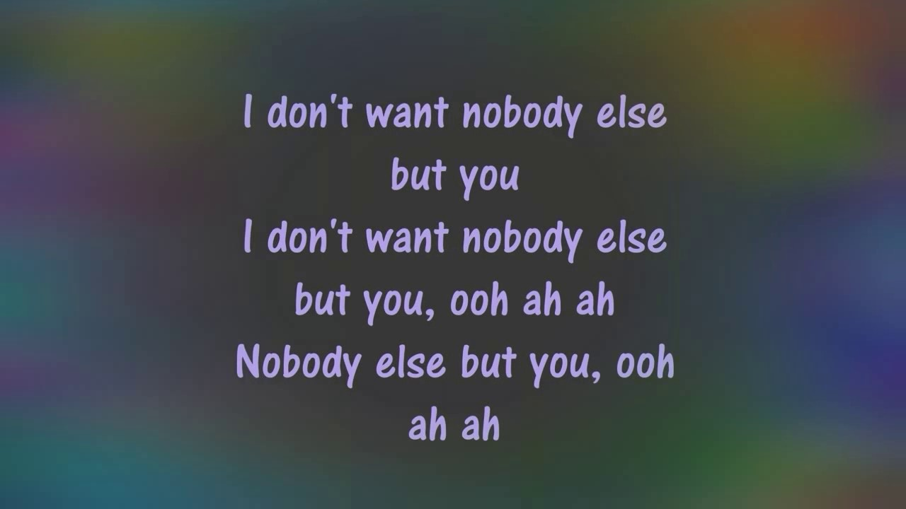 Nobody Else But You Lyric Trey Songz Youtube