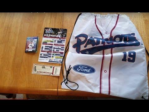 somerset-patriots-drawstring-bag,-magnet-schedule,-ticket-stub
