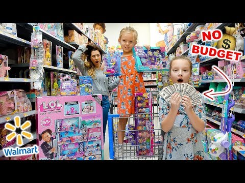 KIDS NO BUDGET WALMART SHOPPING! 🤑 Peyton & Olivia Toy Haul