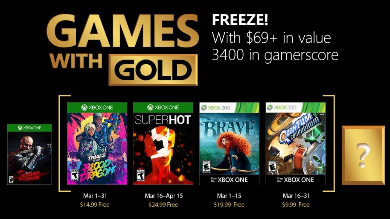 Xbox Games With Gold For March 2018 Has Xbox Game Pass Negatively Impacted Games With Gold