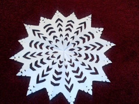 How to make beautiful paper snow flakes for christmas decoration.