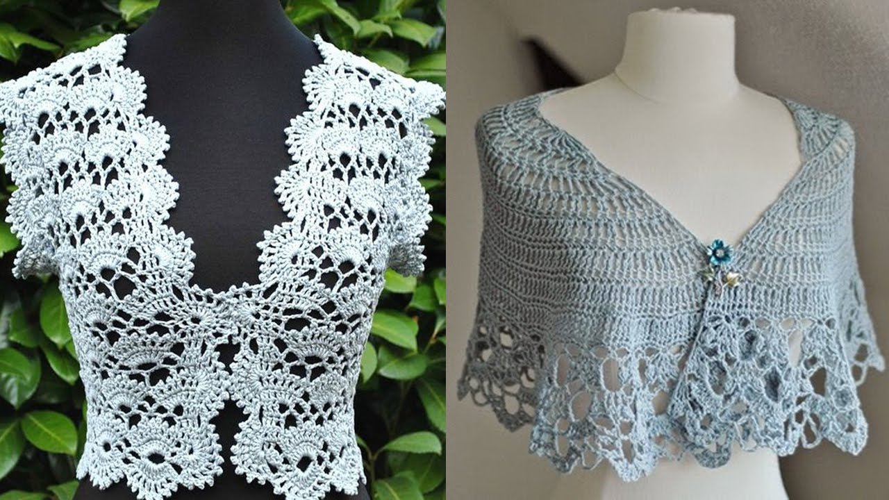Boleros Tejidos A Crochet Diseños Youtube